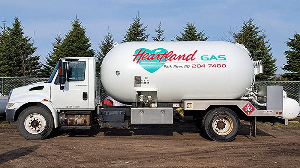 White Heartland Gas truck from Park River, ND